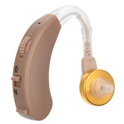 Заушной слуховой аппарат Axon X-163 Бежевый, слуховый аппарат для пожилого человека | підсилювач слуху (GK)