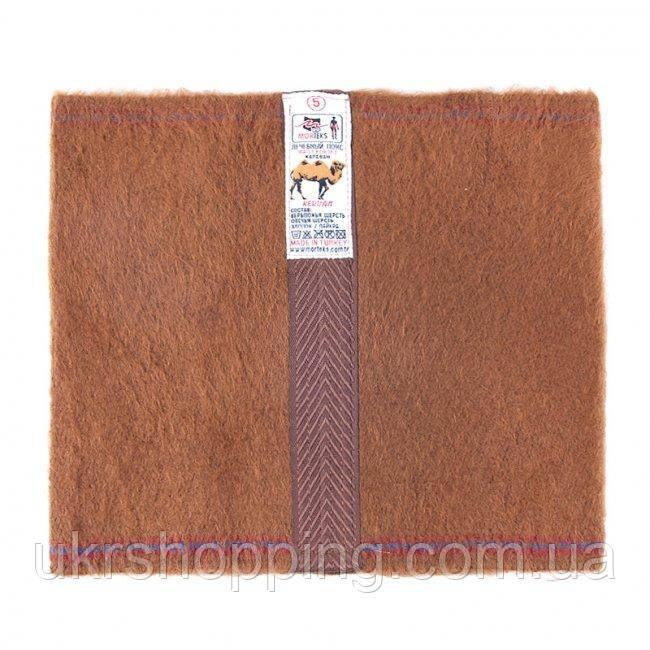 """Лечебный пояс из верблюжьей шерсти Morteks """"Караван"""", цвет коричневый, размер - M"""