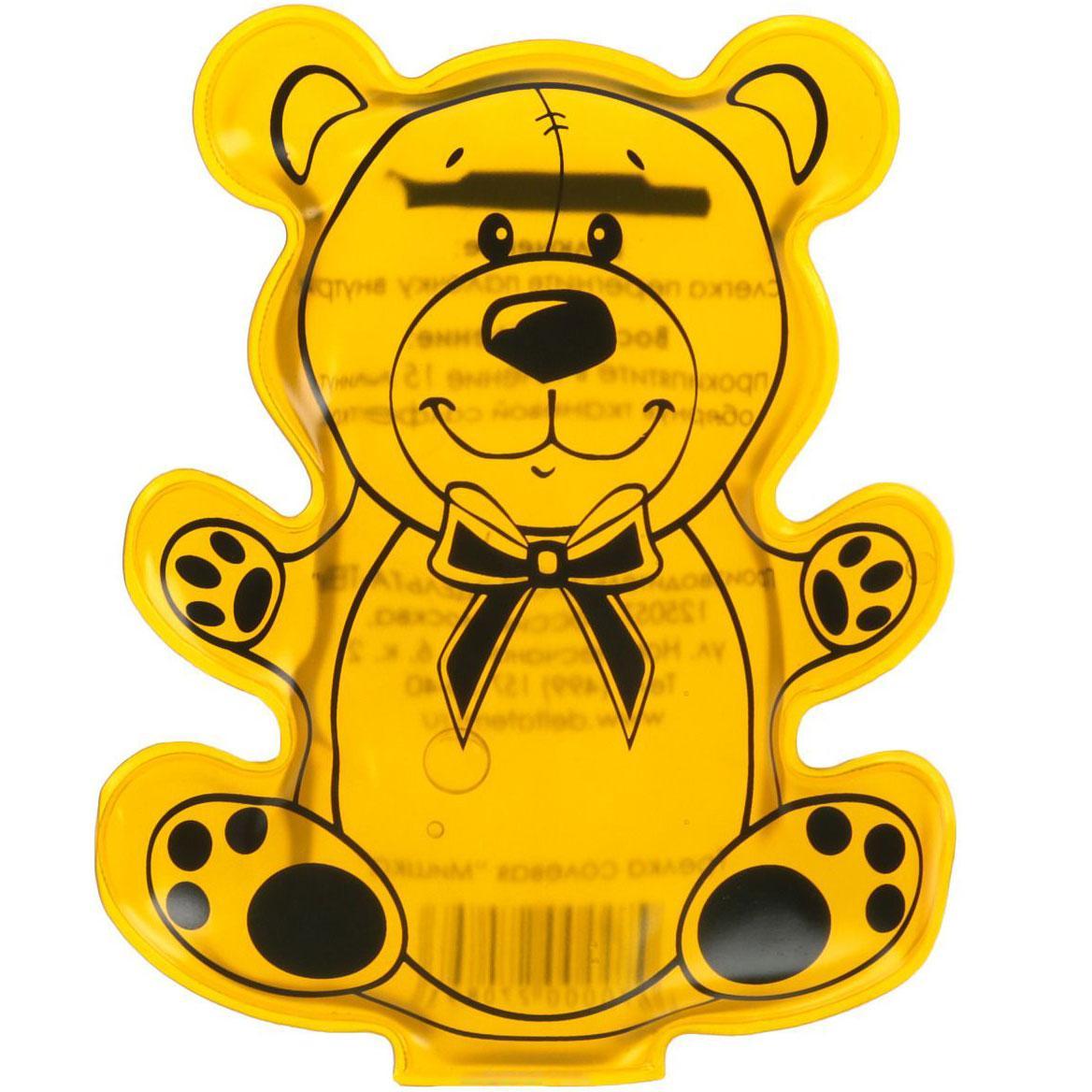 """Солевая грелка для детей """"Мишка"""" Желтый, многоразовая химическая грелка с солью (GK)"""