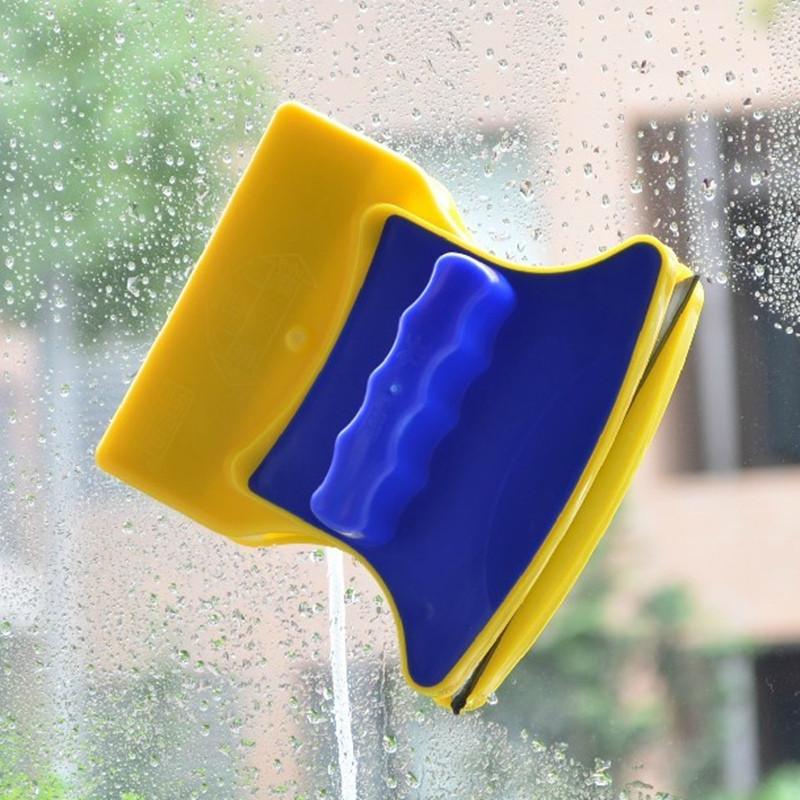 Распродажа! Двусторонняя щетка для мытья окон Double Side Glass Cleaner - 12 см., магнитный скребок  (GK)