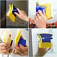 Распродажа! Двусторонняя щетка для мытья окон Double Side Glass Cleaner - 12 см., магнитный скребок  (GK), фото 8