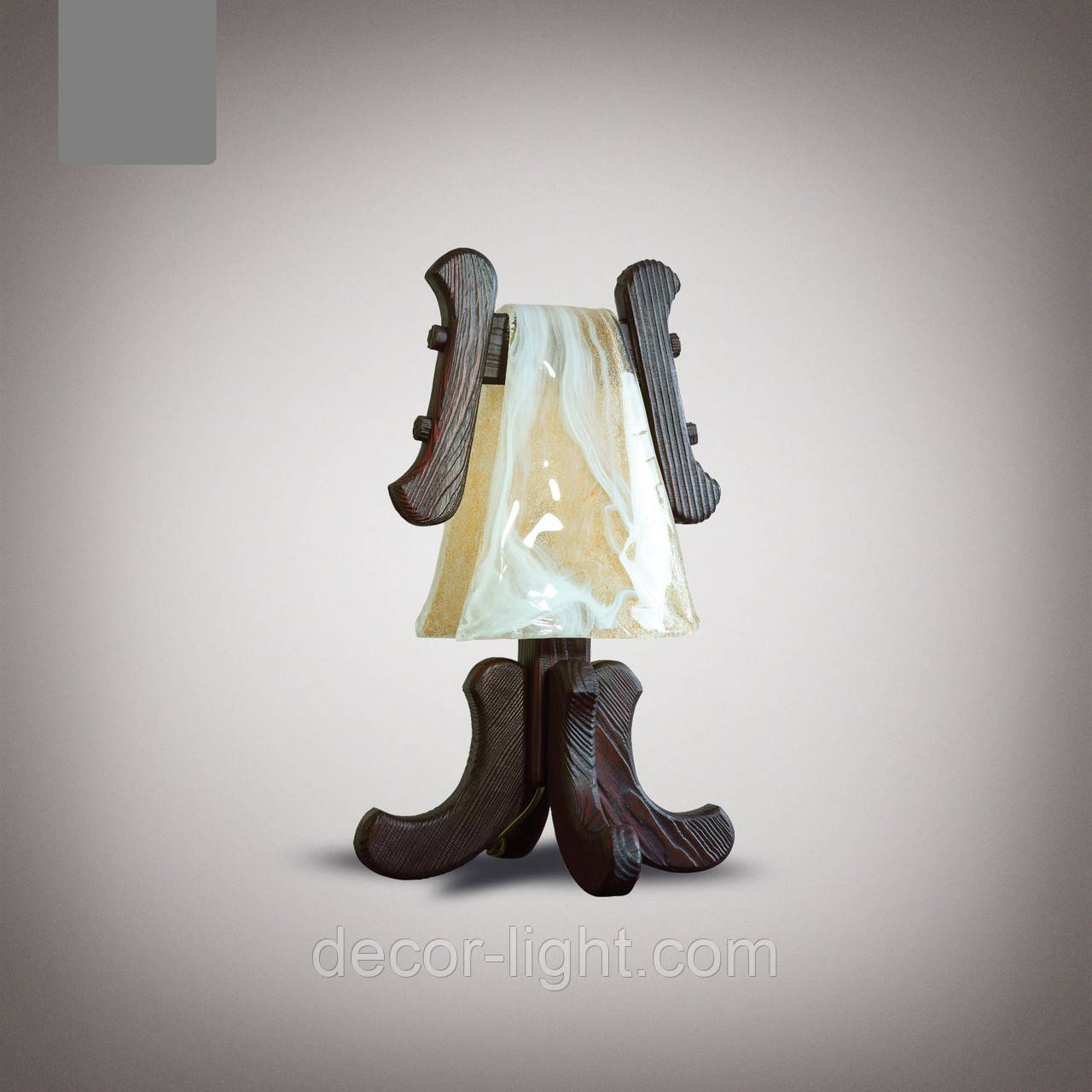 Настольная лампа деревянная  1400