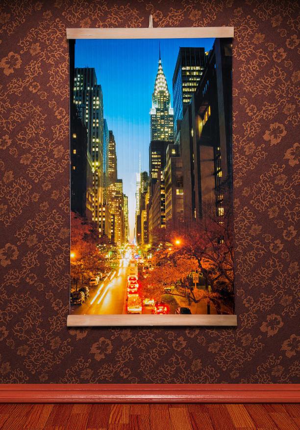 Картина обогреватель (Манхеттен, ночной) настенный пленочный электрообогреватель Трио 00123 (GK)