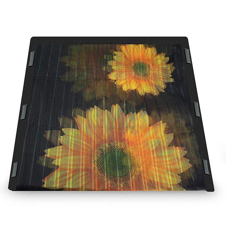 Москитная сетка на дверь на магнитах Insta Screen (Magic Mesh) с подсолнухами, сетка от камаров (GK)