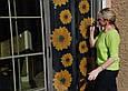 Москитная сетка на дверь на магнитах Insta Screen (Magic Mesh) с подсолнухами, сетка от камаров (GK), фото 5