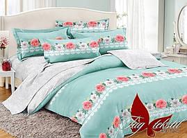 Полуторный комплект постельного белья поплин с компаньоном PC049