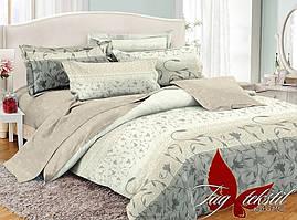 Полуторный комплект постельного белья поплин с компаньоном PC054