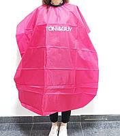 Накидка-пеньюар для парихмахера длинная розовая, фото 1