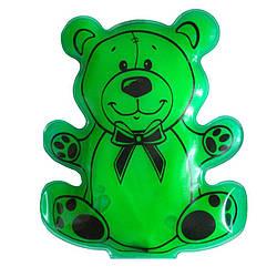 "Сольова грілка для дітей ""Мишка"" Зелений, багаторазова хімічна грілка з сіллю | солевая грелка детская"