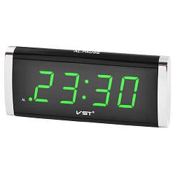 Настільний Led годинник VST 730 з зеленим підсвічуванням, настільний електронний годинник   настольные часы