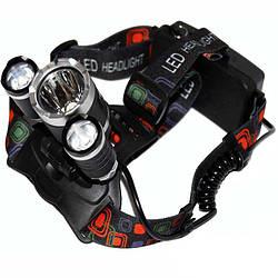 Налобний акумуляторний ліхтар Police BL-RJ3000-T6, ліхтарик на голову,-, налобний ліхтар для риболовлі
