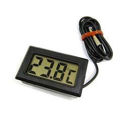 Цифровой термометр с выносным датчиком 48x28.6x15 мм, электронный градусник | цифровий термометр (GK)