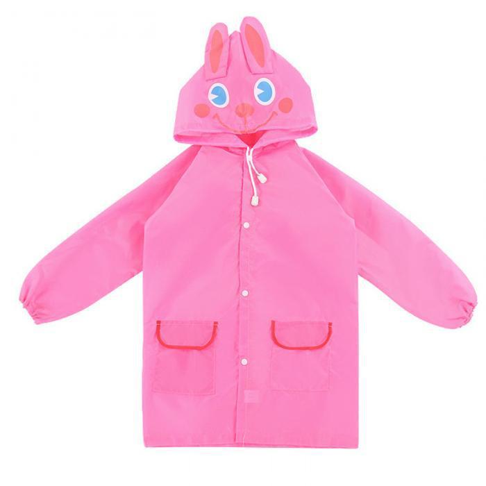 Детский дождевик, розовый зайчик, дождевик (GK)
