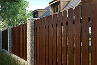 Импрегнированный забор вертикальный штакетник, фото 1