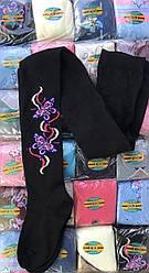 Детские подростковые колготы с вышивкой трикотаж тм БФЛ