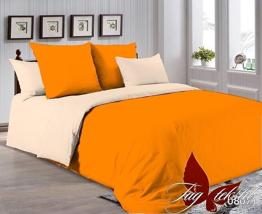 Евро комплект постельного белья однотонный P-1263(0807)
