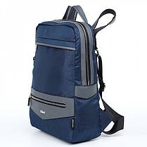 Рюкзак городской женский синий Dolly 381 модный 40*29 см, фото 2