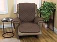 Накидка на крісло, Couch Coat - Коричнева, двостороннє стьобане покривало, з доставкою по Україні, фото 4