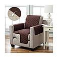 Накидка на крісло, Couch Coat - Коричнева, двостороннє стьобане покривало, з доставкою по Україні, фото 5