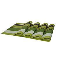 Коврики под тарелки, сервировочные, подставки под горячее, 4 шт., цвет - Салатово-зеленый (NV)