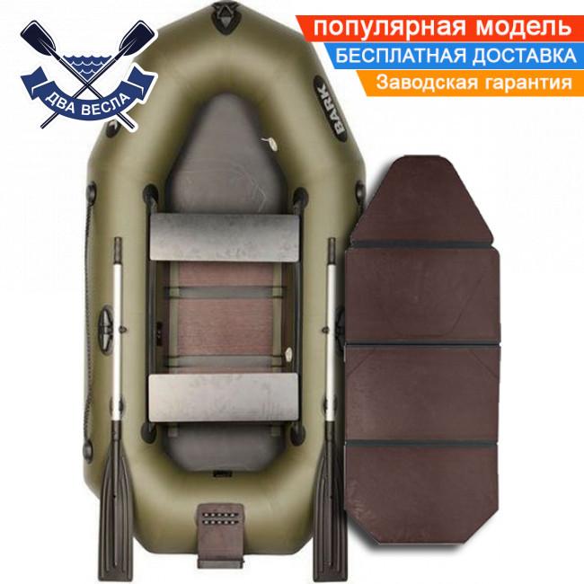 Надувная лодка Bark B-230KND с транцем, слань-книжкой и сдвижными сиденьями, двухместная