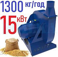 Зернодробилка молотковая KRAFT-15 (15 кВт, 1300 кг в час)