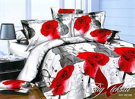 Полуторный комплект постельного белья с 3D эффектом из полисатина PS-NZ2188