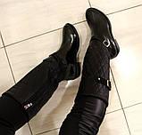 38р. Жіночі стильні гумові чоботи утеплені  (Г-3), фото 2