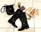 38р. Жіночі стильні гумові чоботи утеплені  (Г-3), фото 4