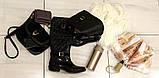38р. Жіночі стильні гумові чоботи утеплені  (Г-3), фото 6
