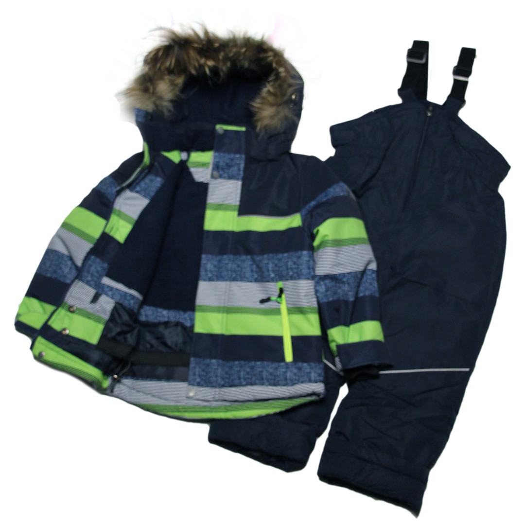Детский яркий зимний термокомбинезон для мальчика 104 рост синий