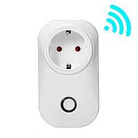 Розумна розетка з вай фай управлінням Wi-Fi Smart Plug Socket 10A смарт розетка з дистанційним управлінням
