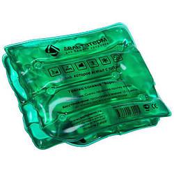 """Сольова грілка для дітей """"Комір"""" Зелена, багаторазова хімічна сольова грілка для рук"""