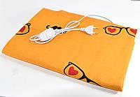 Электрическая грелка Чудесник Оранжевая с сердечками с регулятором температуры 40х50 см электрогрелка