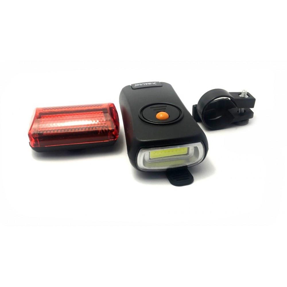 Велосипедний ліхтар BL-908, комплект 2 шт., передній і задній, велофонарик