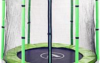 Батут Atleto 140 см з сіткою зелений