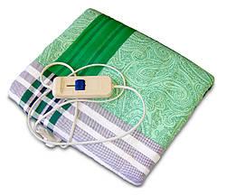 Простынь с подогревом, электрогрелка, 150x120 см. - Зеленая. Экономная электропростынь Трио 02102 (GK)