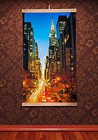Картина обогреватель (Манхеттен, ночной) настенный пленочный электрообогреватель Трио 00123, фото 1
