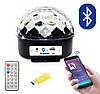 Музыкальный диско шар с флешкой и ПДУ, LED KTV Ball Черный, светящийся диско шар с блютузом (NV)