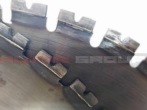 Реставрация диска 800 мм сегмент по железобетону 4,8 мм
