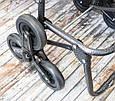 Ручна господарська тачка для продуктів | кравчучка на коліщатках Колір №21 візок на трьох колесах, фото 7