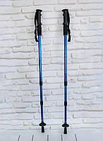 Трекинговые палки для скандинавской ходьбы (рукоять - пластик, Blue) скандинавские палки (NV), фото 1