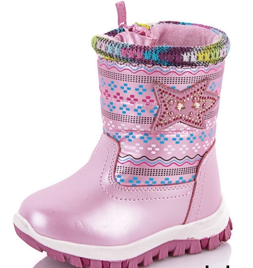 Зимние сапожки для девочки размер 28-17 см.