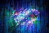 Новогодняя Led гирлянда Разноцветная 400 multi LED 15 метров (белый кабель)   новорічна гірлянда (NV)
