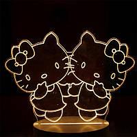 3D светильник, ночник для детей, Hello Kitty, (доставка по Украине), фото 1