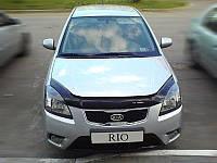 Дефлектор капоту (мухобійка) Kia RIO III 2005-2010