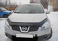 Дефлектор капота (мухобойка) Nissan Qashqai 2006-2009