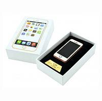 Подарочная спиральная электрозажигалка USB Apple Style золото сувенирная электрическая Iphone, фото 1