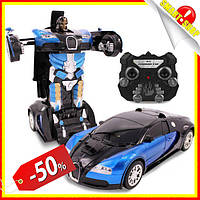 Радиоуправляемая машинка трансформер, Bugatti Robot Car Size, Машинки трансформеры на пульте управления