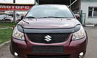 Дефлектор капота (мухобойка) Suzuki SX4 2005-2013